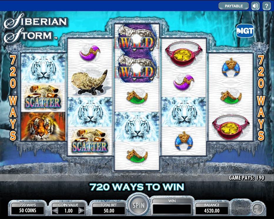 best online slot - Siberian Storm Slot