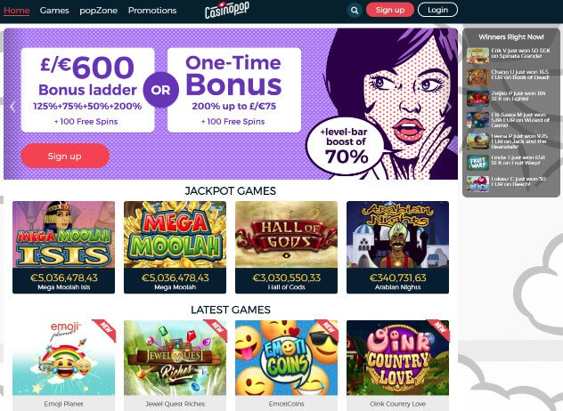 Casinopop review
