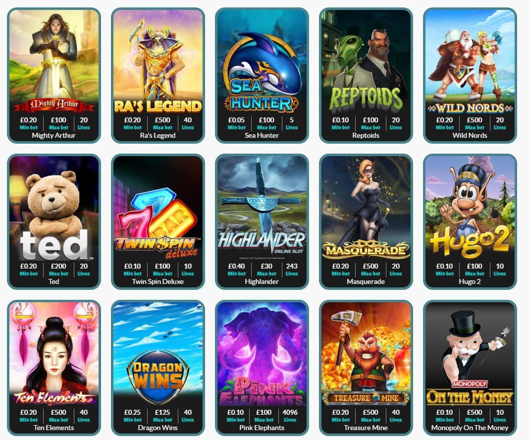 Cashmio Casino Review - Games