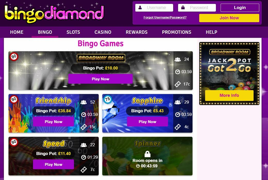 Bingo Diamond Review - Games