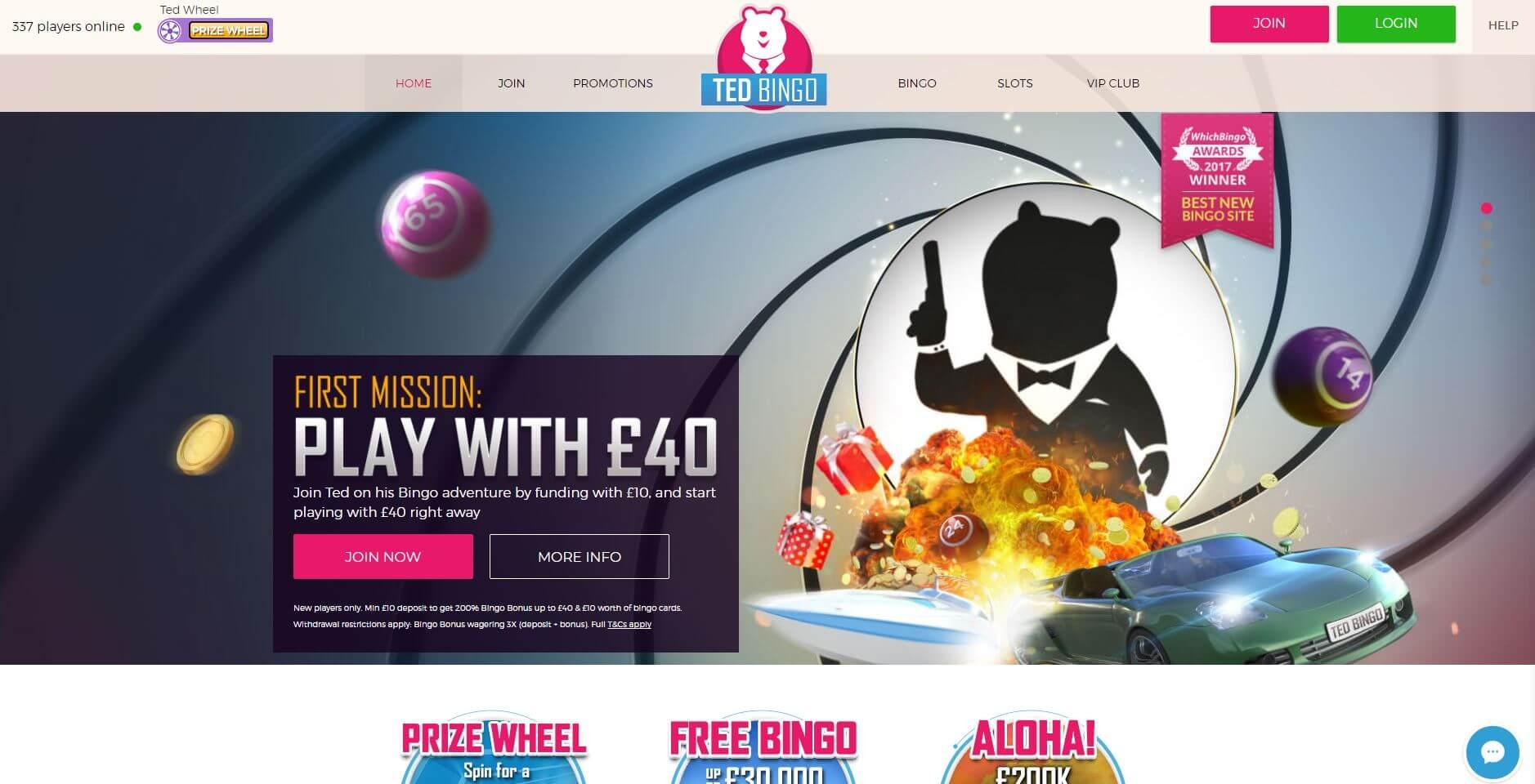Ted Bingo Homepage