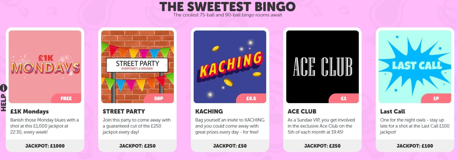 Sundae Bingo games