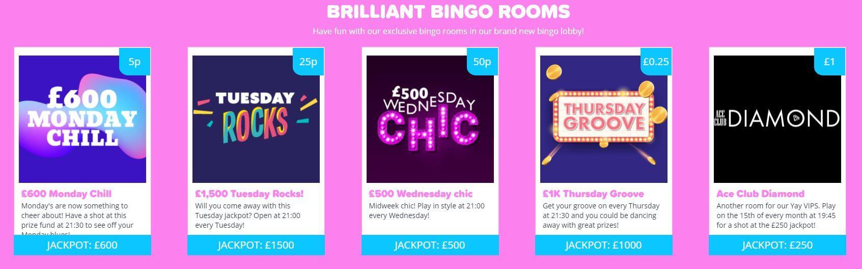yay bingo games
