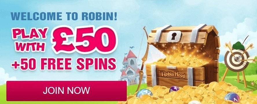 Robin Hood Bingo Bonus