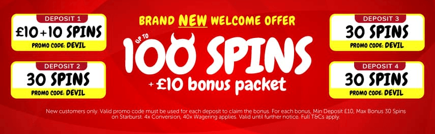 Slots Devil welcome bonus