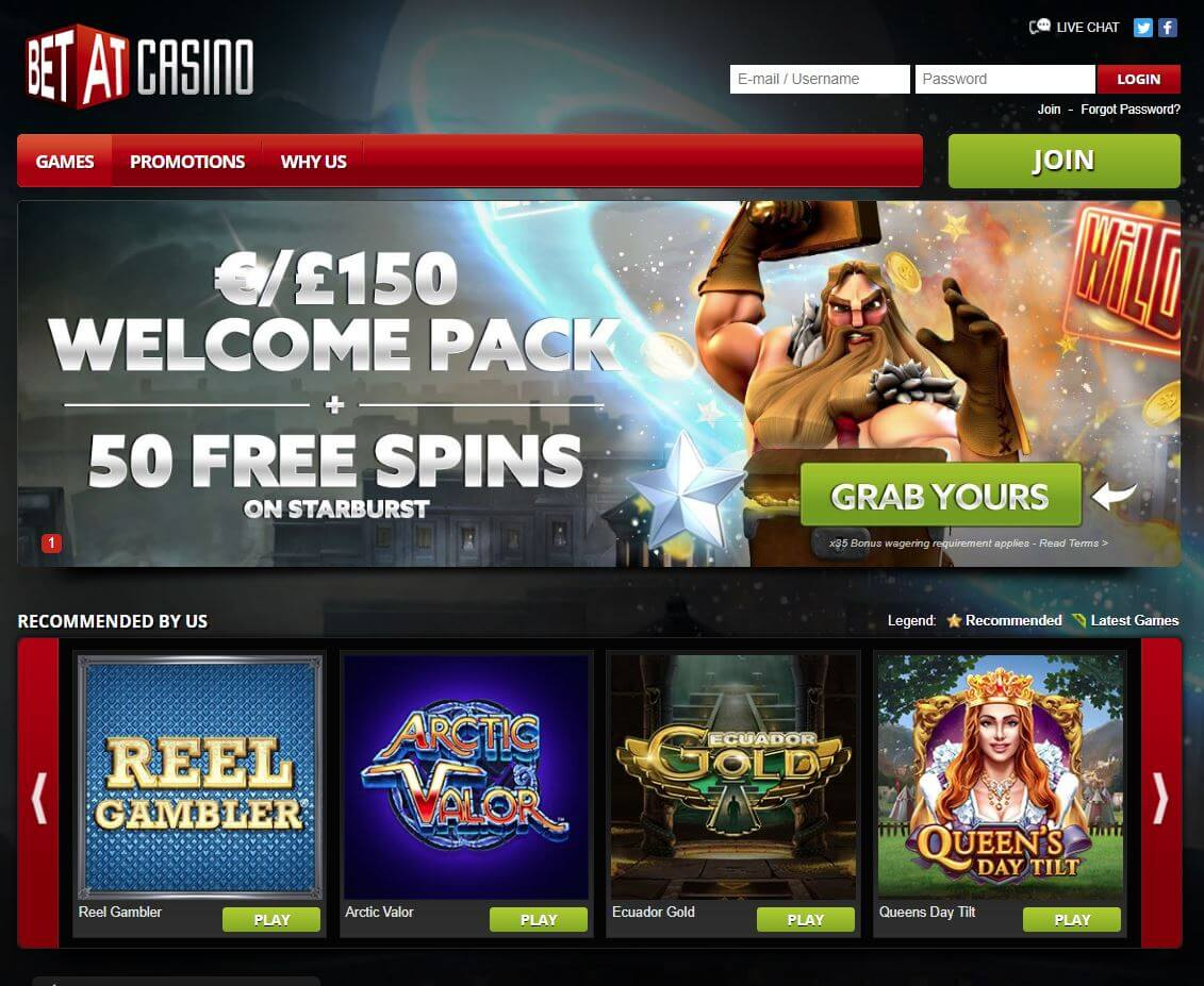 betat casino homepage