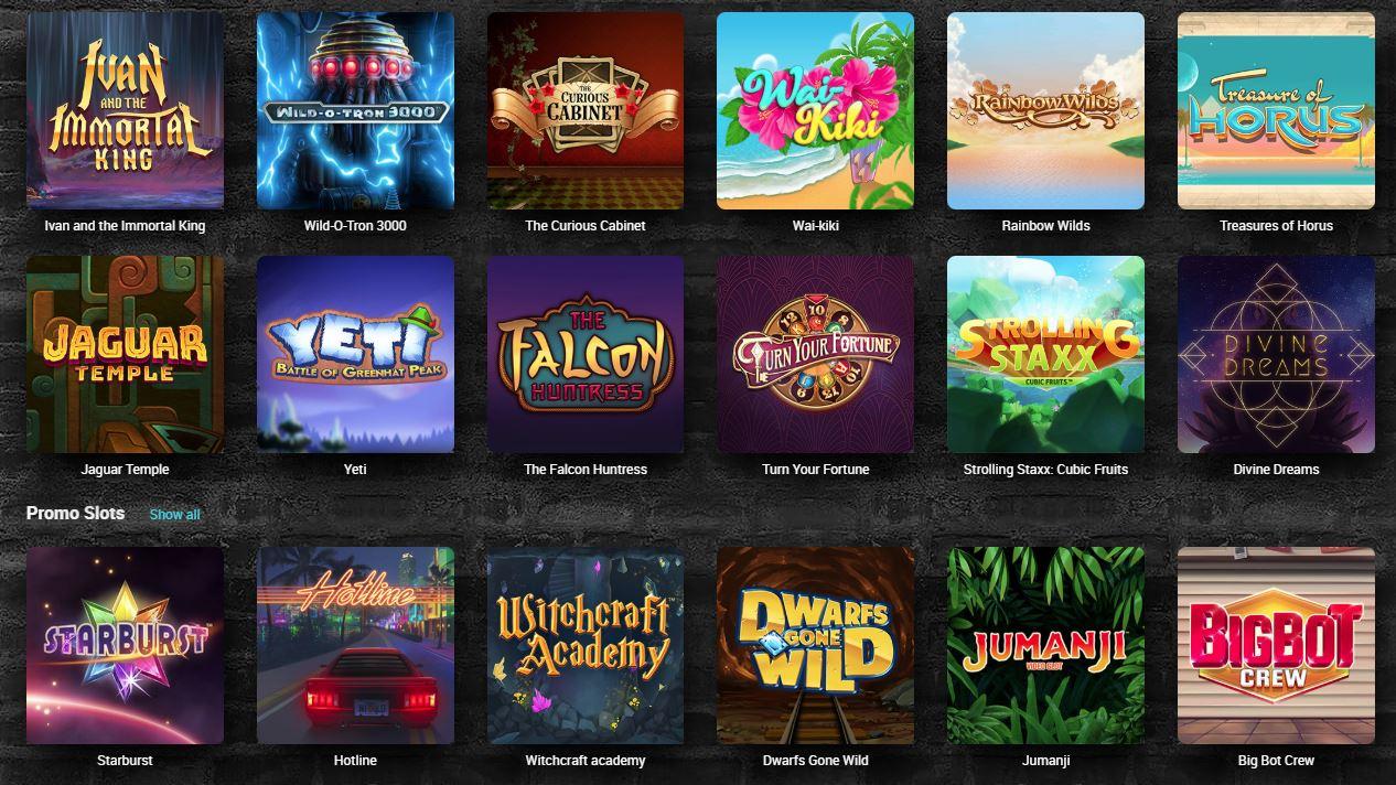 Tonybet Casino Games