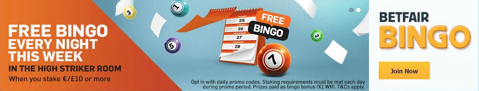 betfair bingo offer