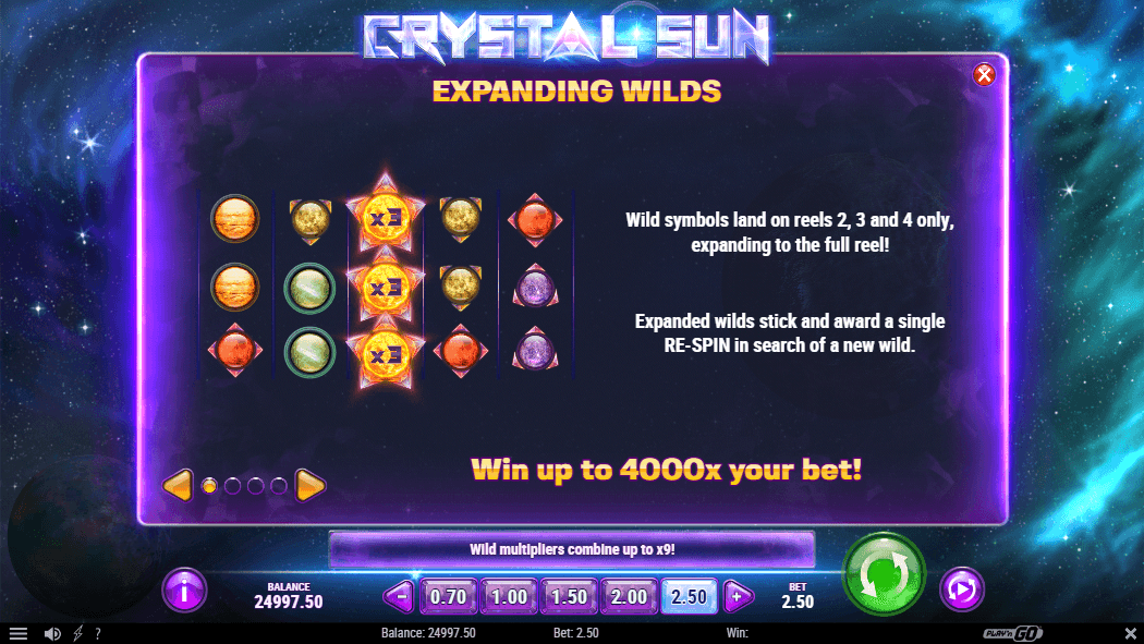 Crystal Sun expanding wilds