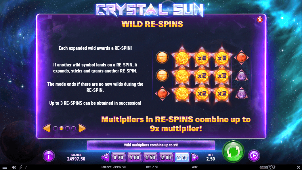 Crystal Sun Slot re-spins