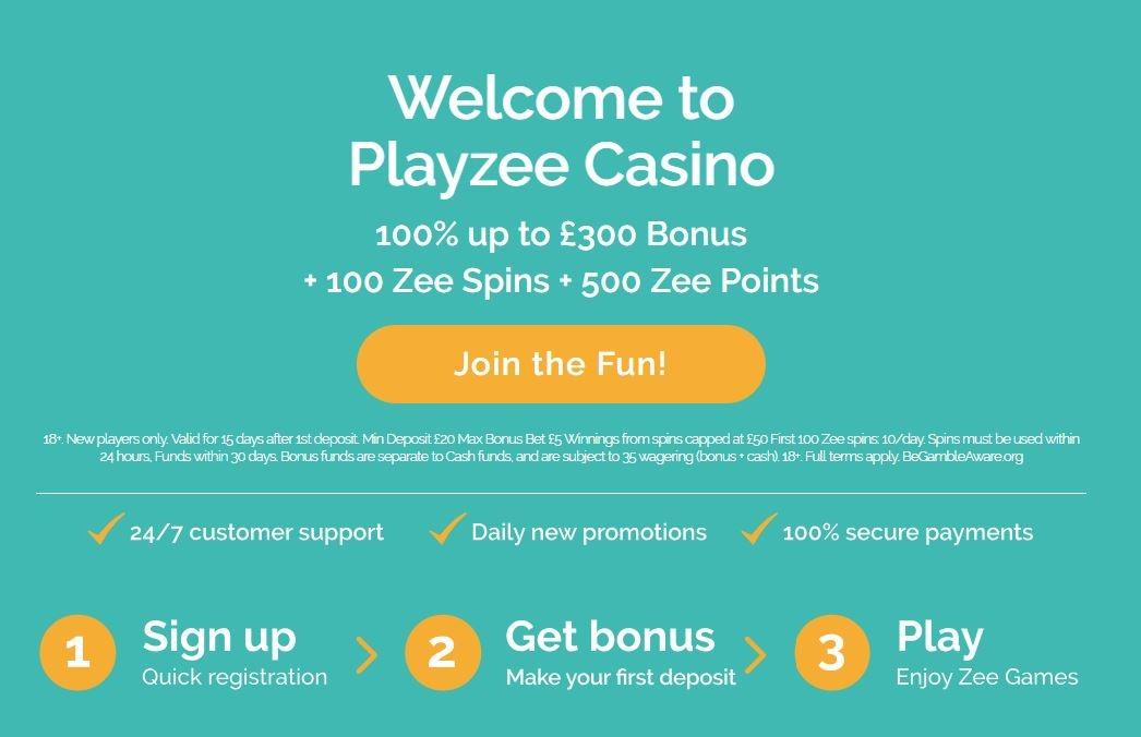 Playzee Casino Welcome Bonus