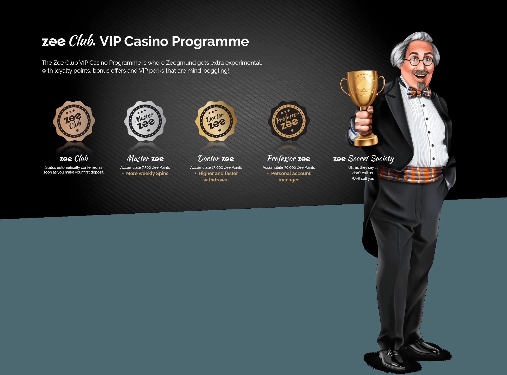 playzee casino rewards program