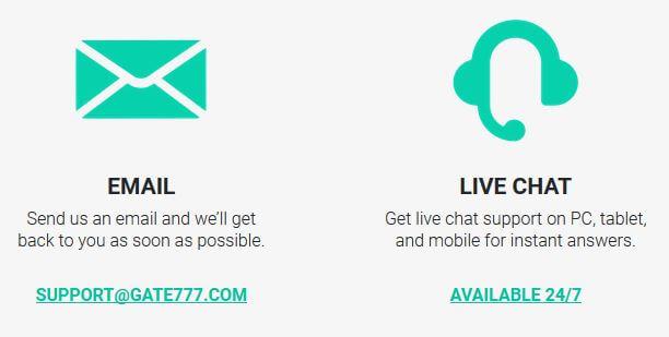 Gate777 customer support details