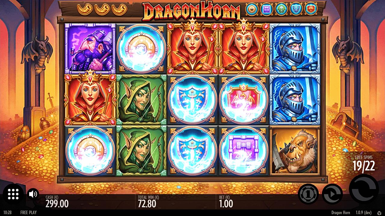 Dragon Horn slot bonus round