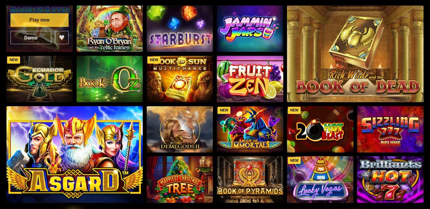 Zet Casino games