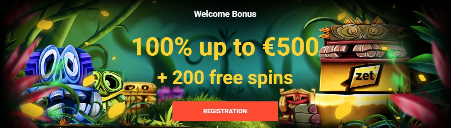 Zet Casino welcome bonus