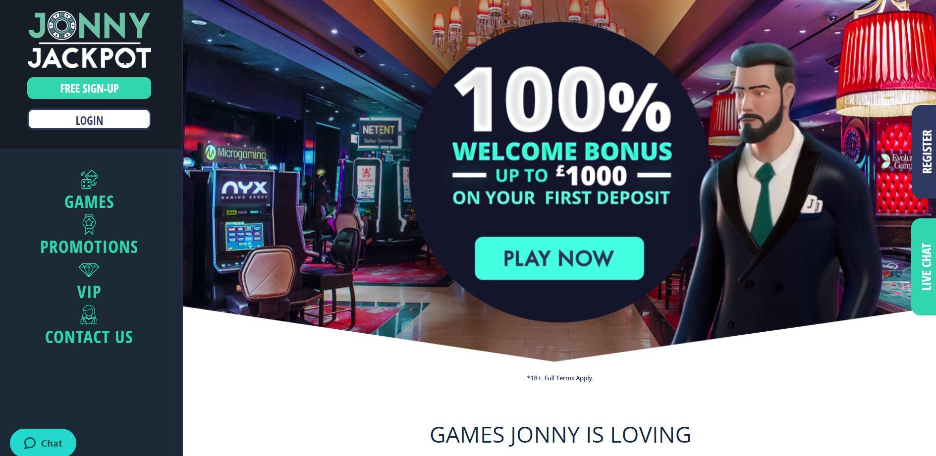 jonny jackpot homepage